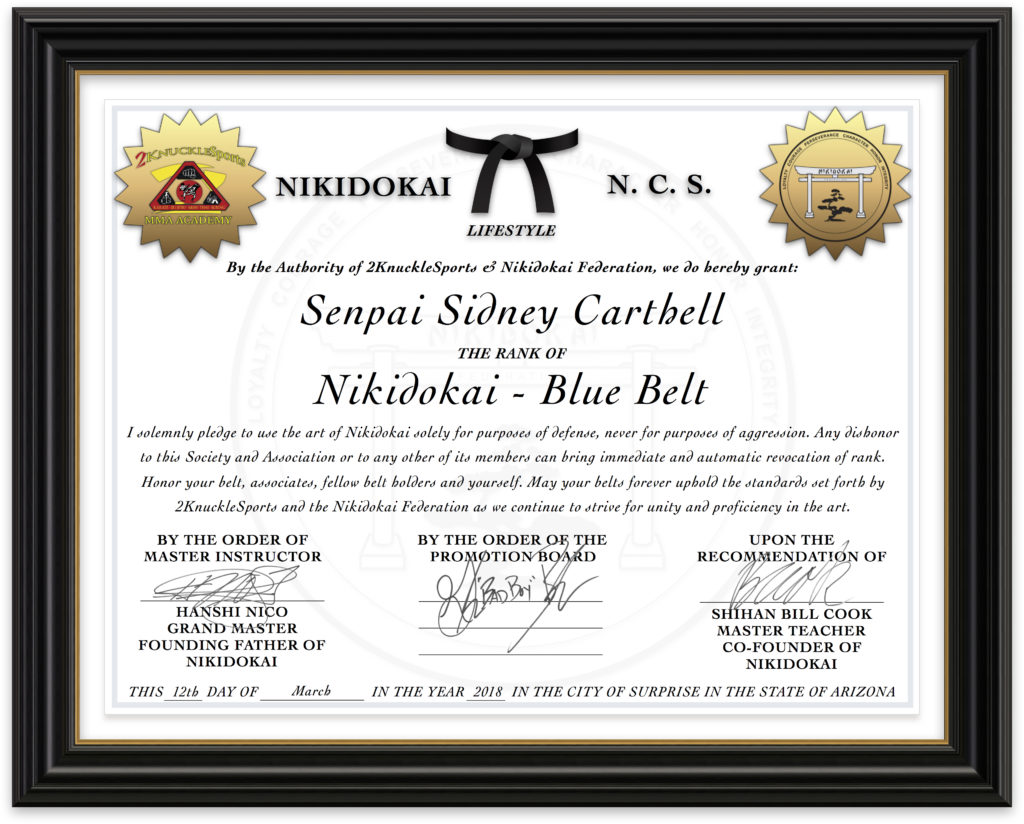 Sidney Carthell - Nikidokai Blue Belt