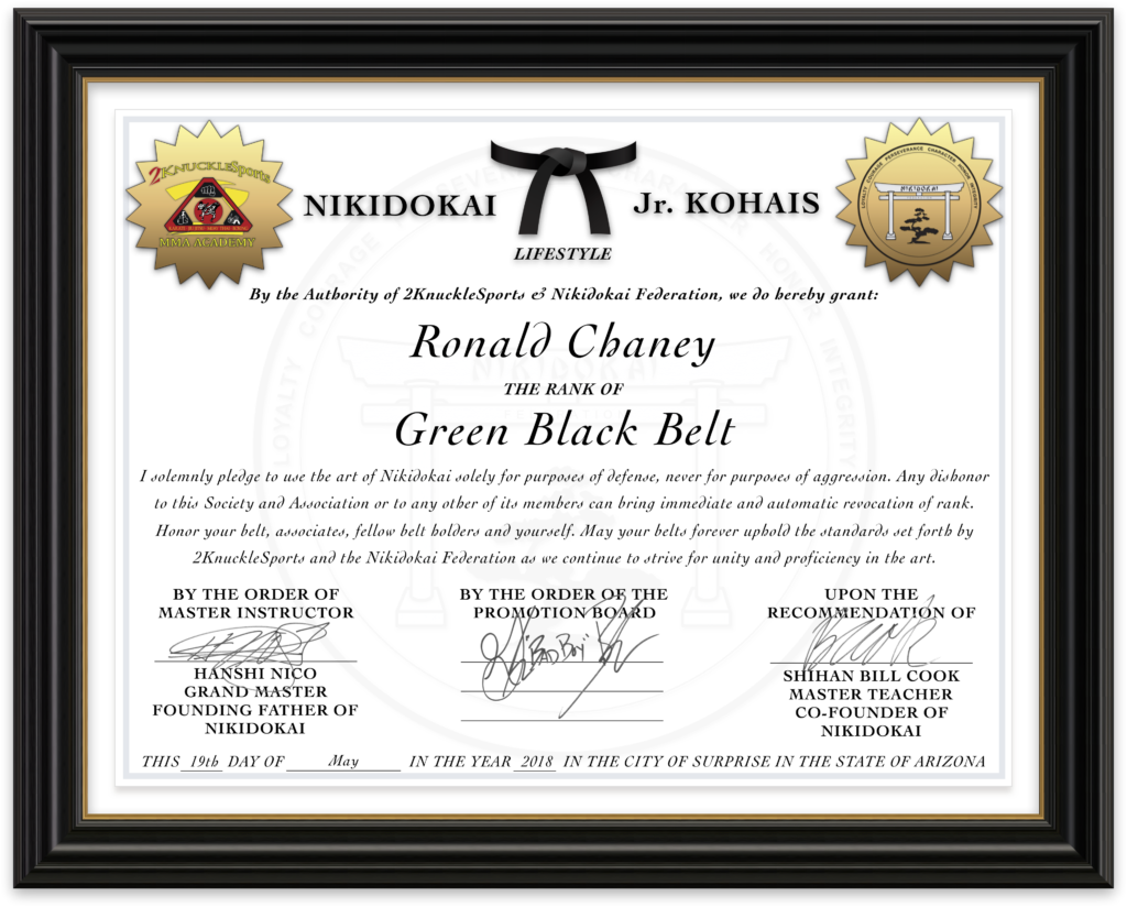Ronald Chaney - Nikidokai Green Black Belt